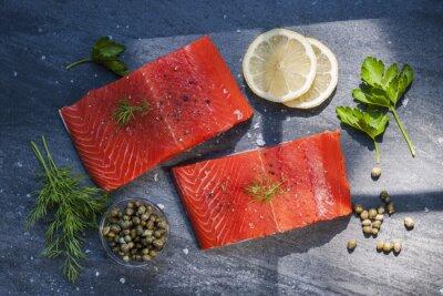 Sticker Biftecks de saumon sauvage