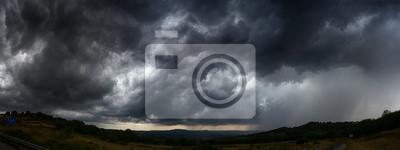 Sticker ciel avec nuages d'orage sombre