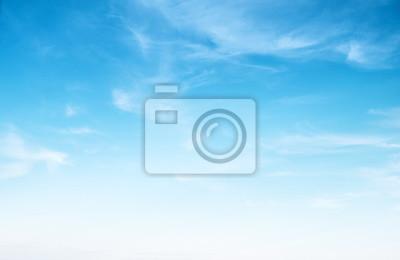 Sticker Ciel bleu clair et nuages blancs