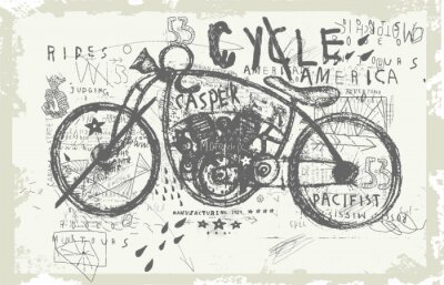 Sticker Мотоцикл