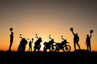 Sticker motorsiklet takımı