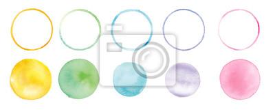 Sticker 水彩まるのグラフィック素材