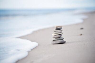 Sticker Yoga - Bien-être - Steine am Nordseestrand