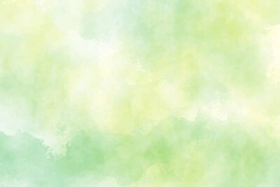 Sticker yellow and green watercolor background for spring
