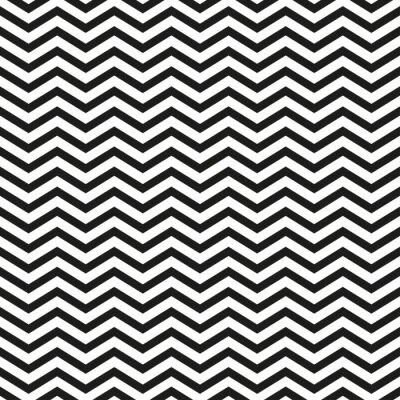 Sticker Zigzag, modèle, noir, Lignes, élégant, Illustration