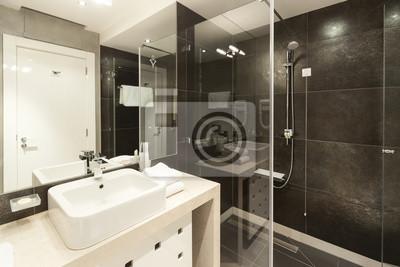 Int rieur de salle de bains moderne peintures pour le mur tableaux appartem - Interieur salle de bain moderne ...